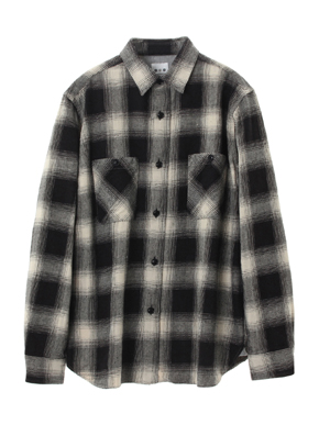 ombre check double pocket shirt 詳細画像