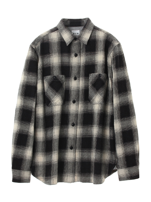 ombre check double pocket shirt