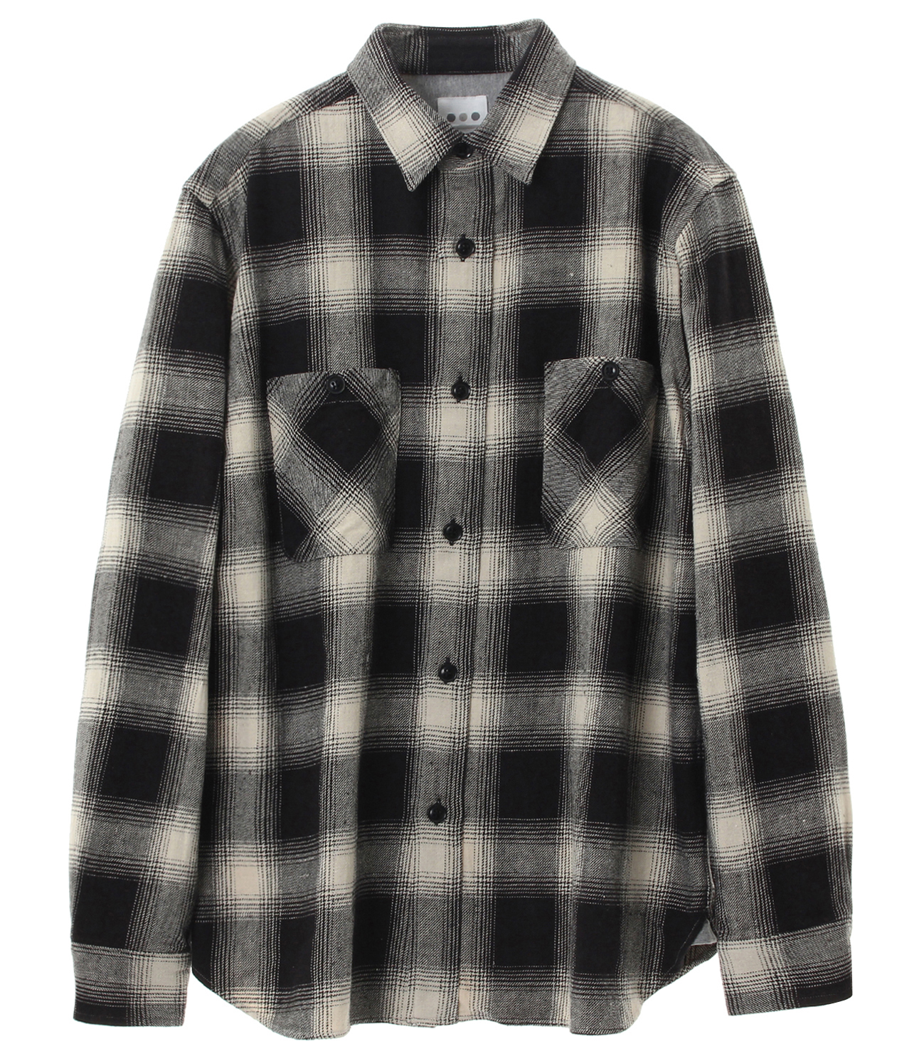 ombre check double pocket shirt 詳細画像 ivory 1