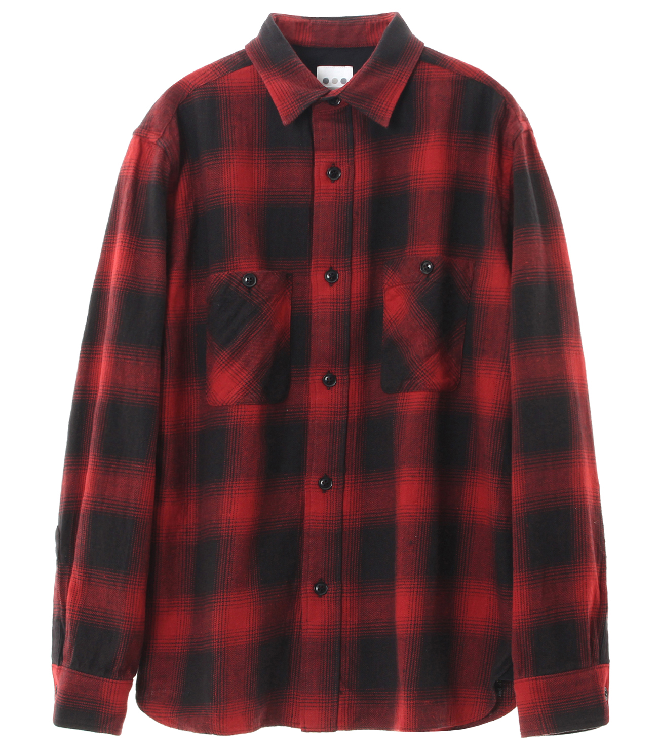 ombre check double pocket shirt 詳細画像 red 1