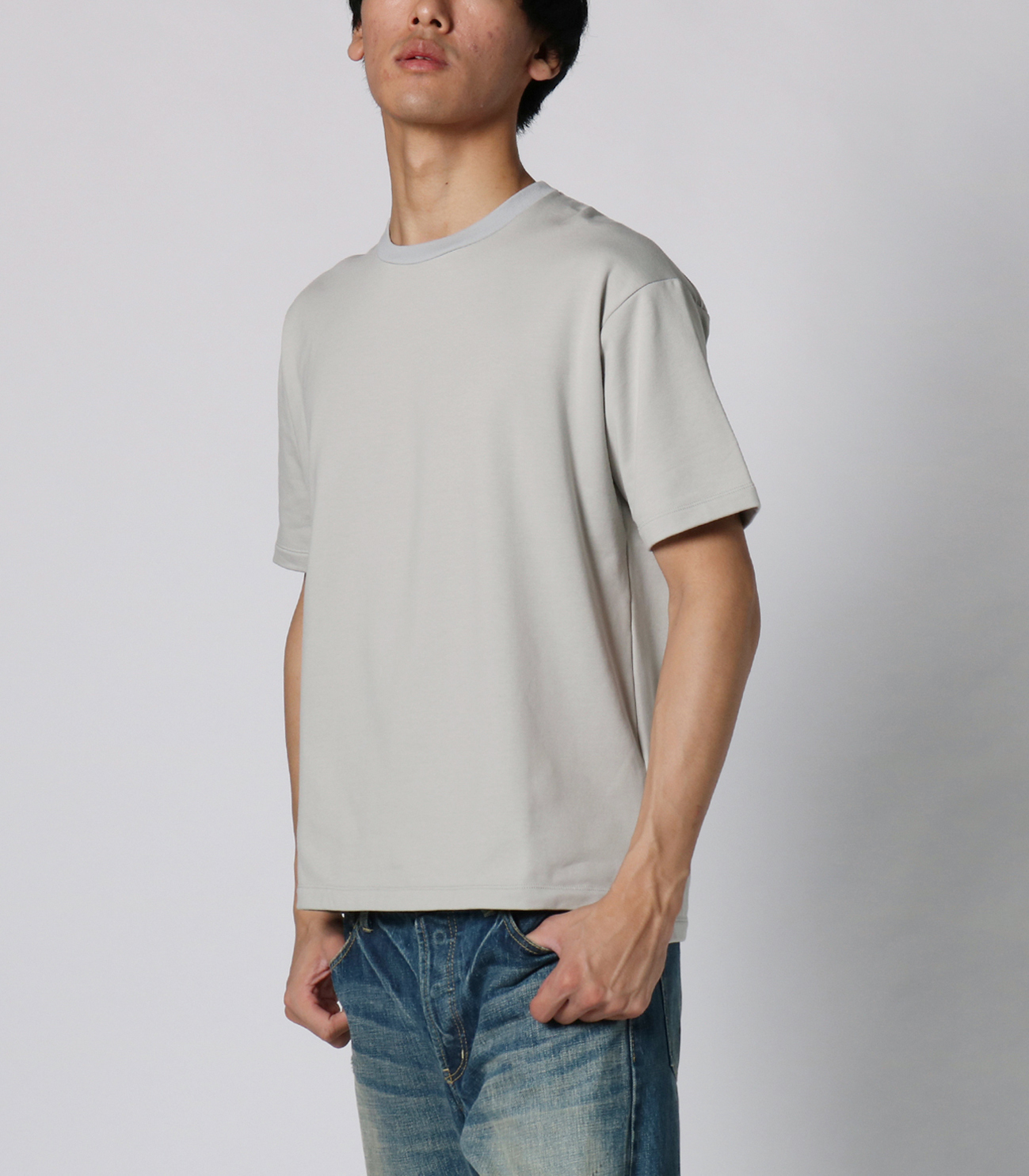 stretch terry s/s crewneck 詳細画像 pale grey 6
