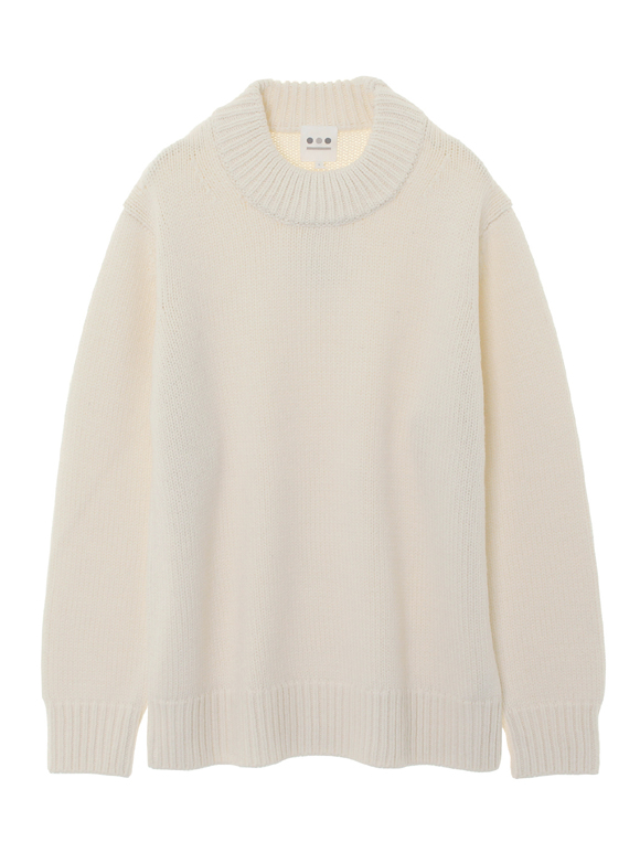 3G wool l/s high crew neck