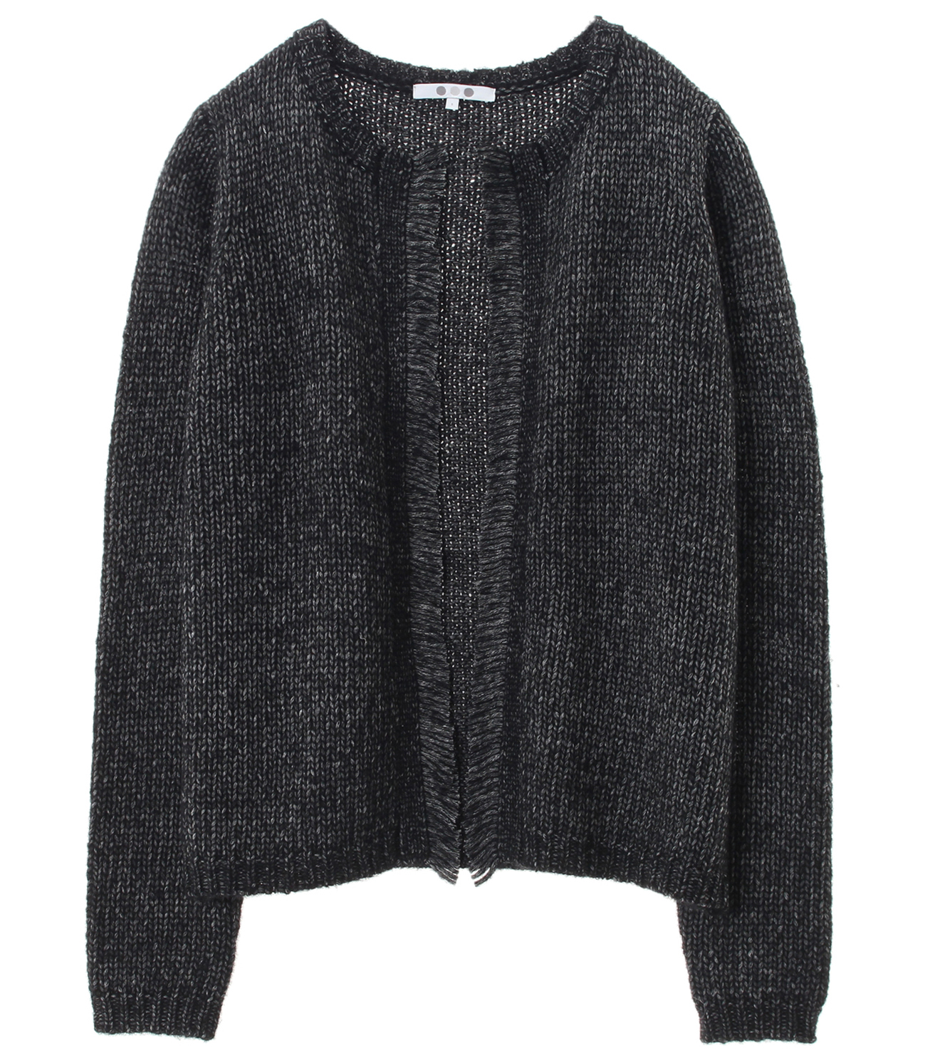 tweedy sweater l/s cardigan 詳細画像 black 1