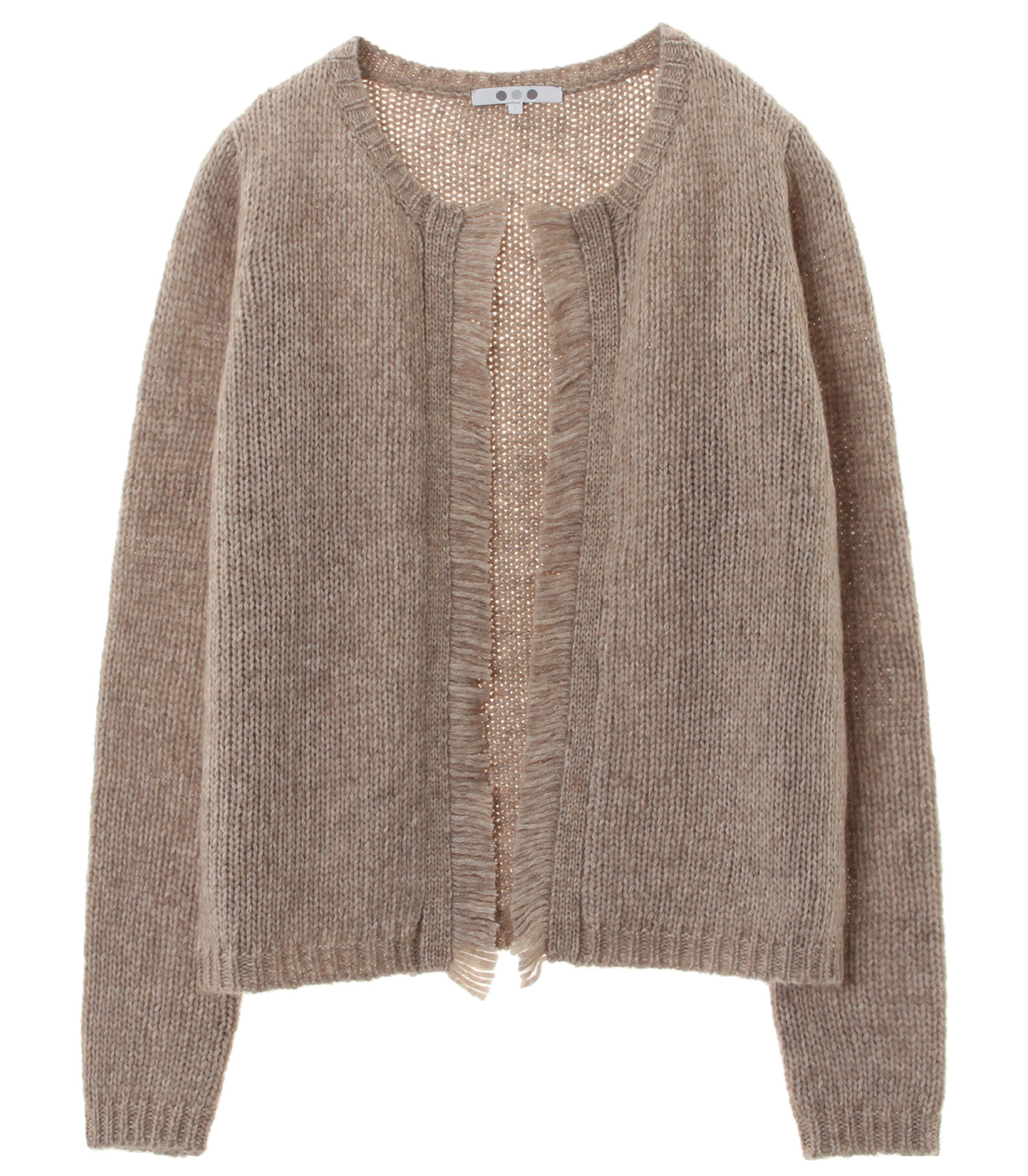 tweedy sweater l/s cardigan 詳細画像 beige 1