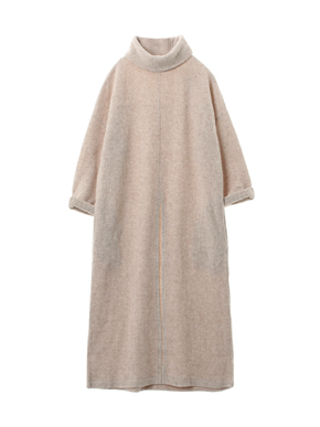 double faced rib sweater tunic t 詳細画像