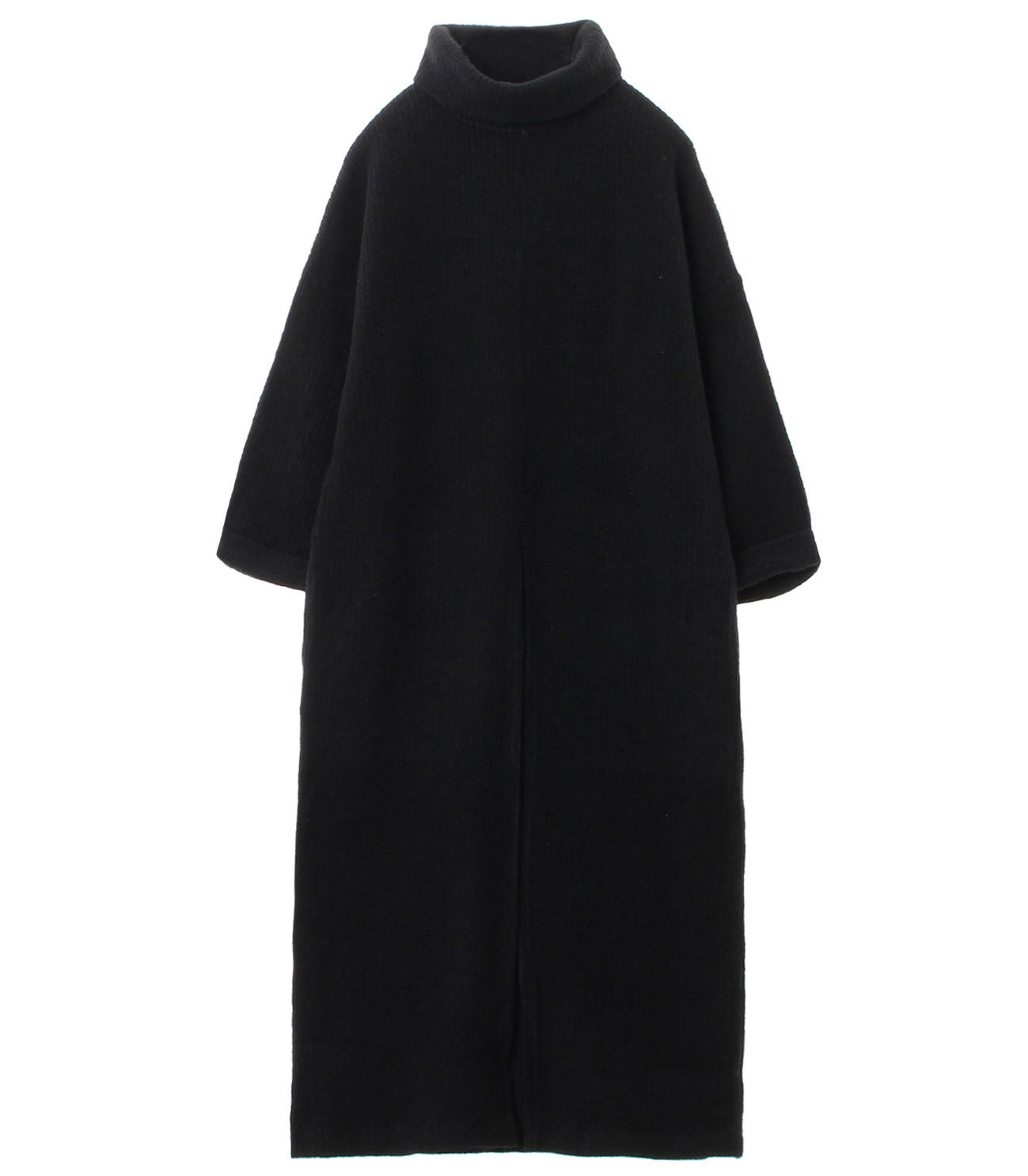 double faced rib sweater tunic t 詳細画像 black 1