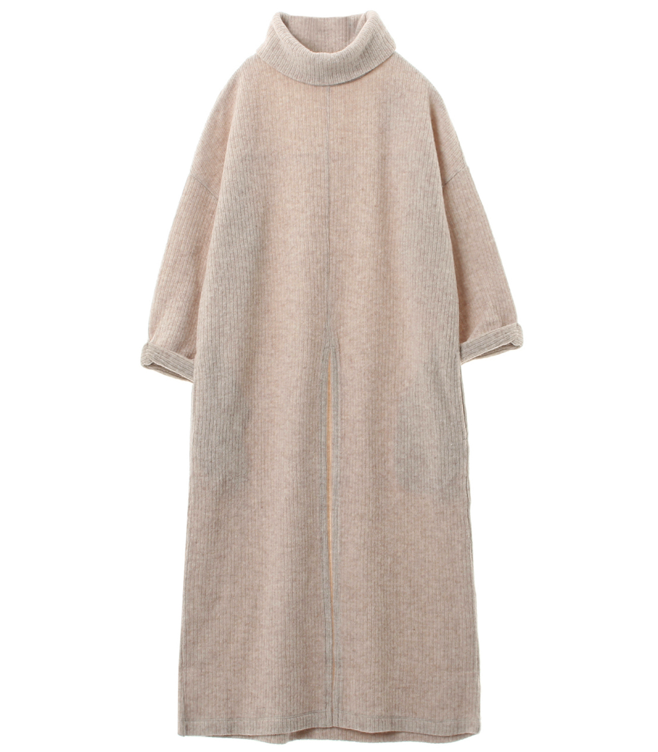 double faced rib sweater tunic t 詳細画像 heathered oatmeal 1