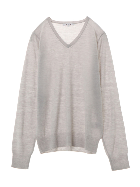 merino superfine l/s v-neck top