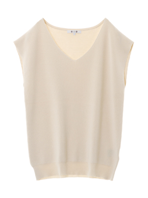 outlast sweater sleeveless vneck 詳細画像
