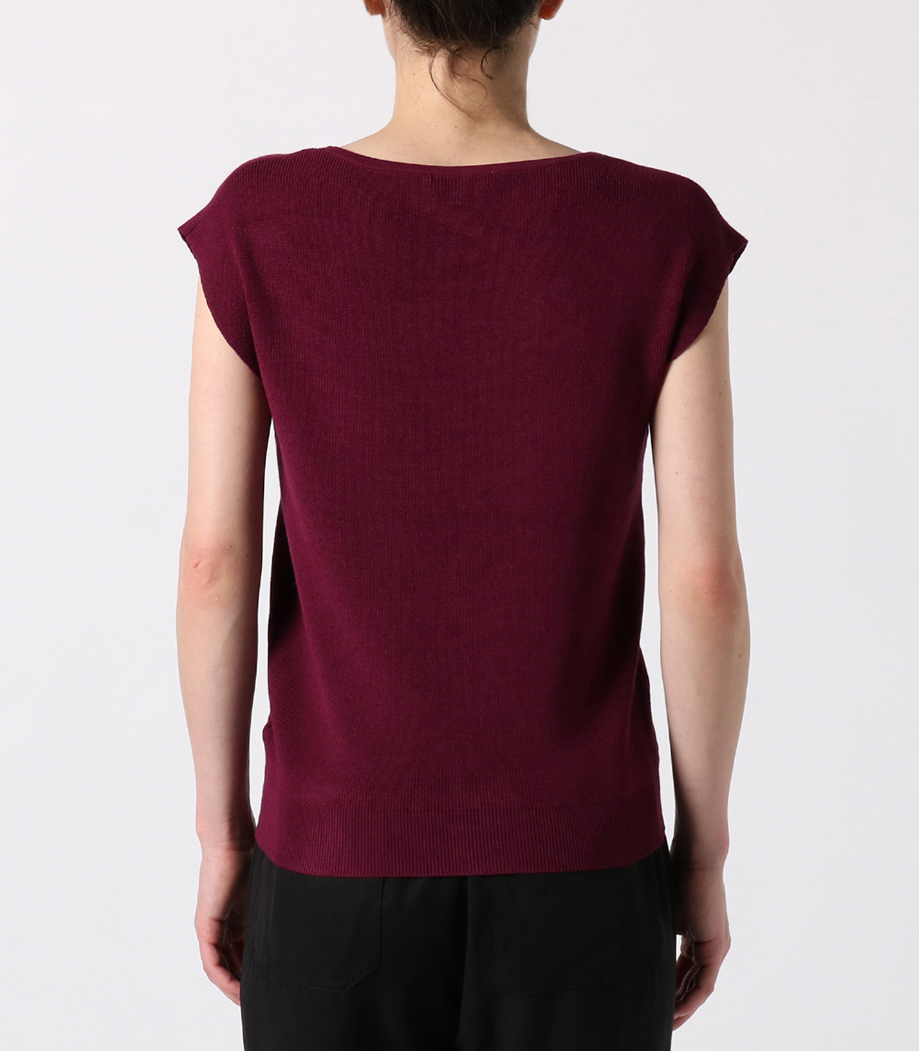 outlast sweater sleeveless vneck 詳細画像 purple 4