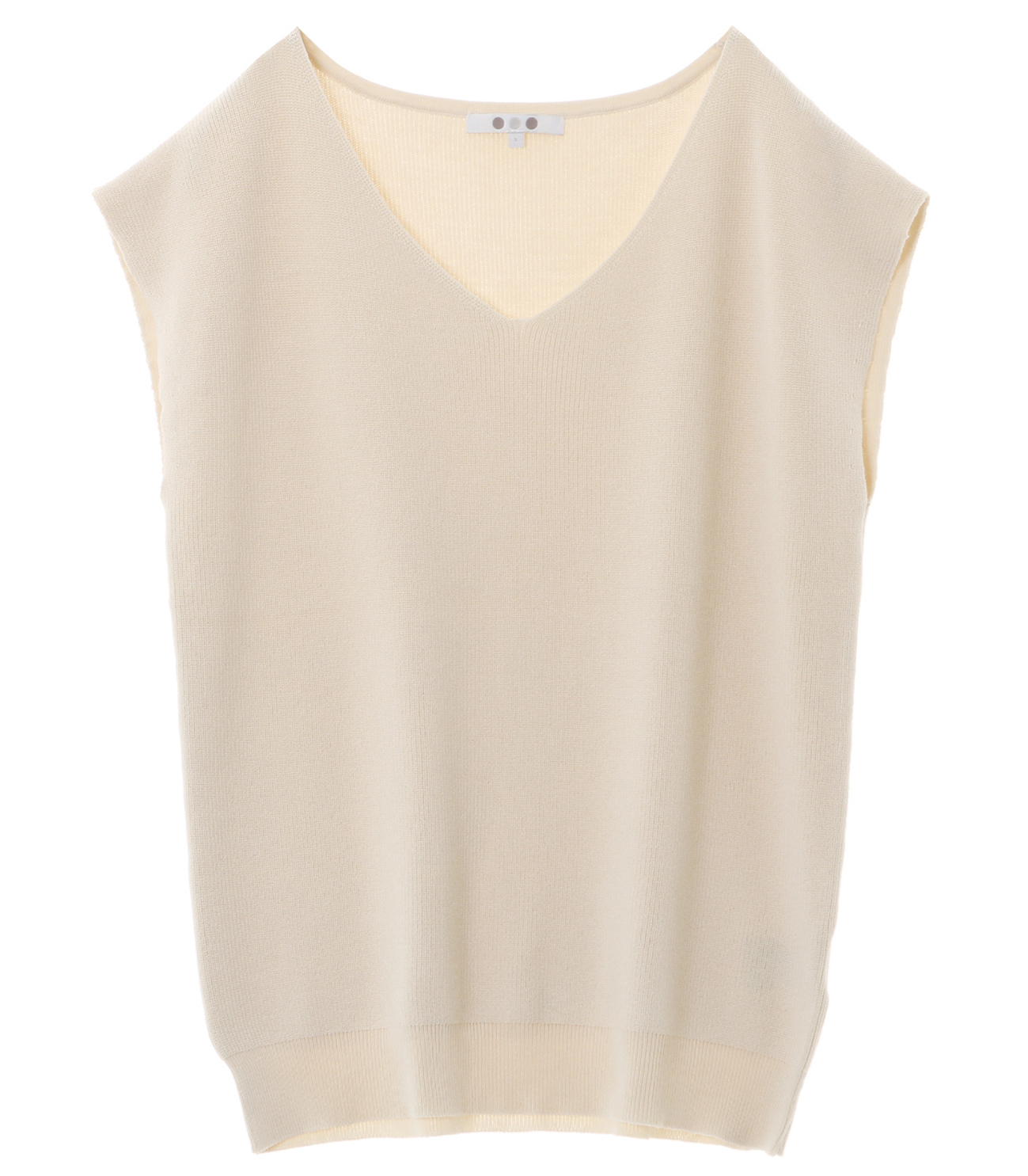 outlast sweater sleeveless vneck 詳細画像 cream 1