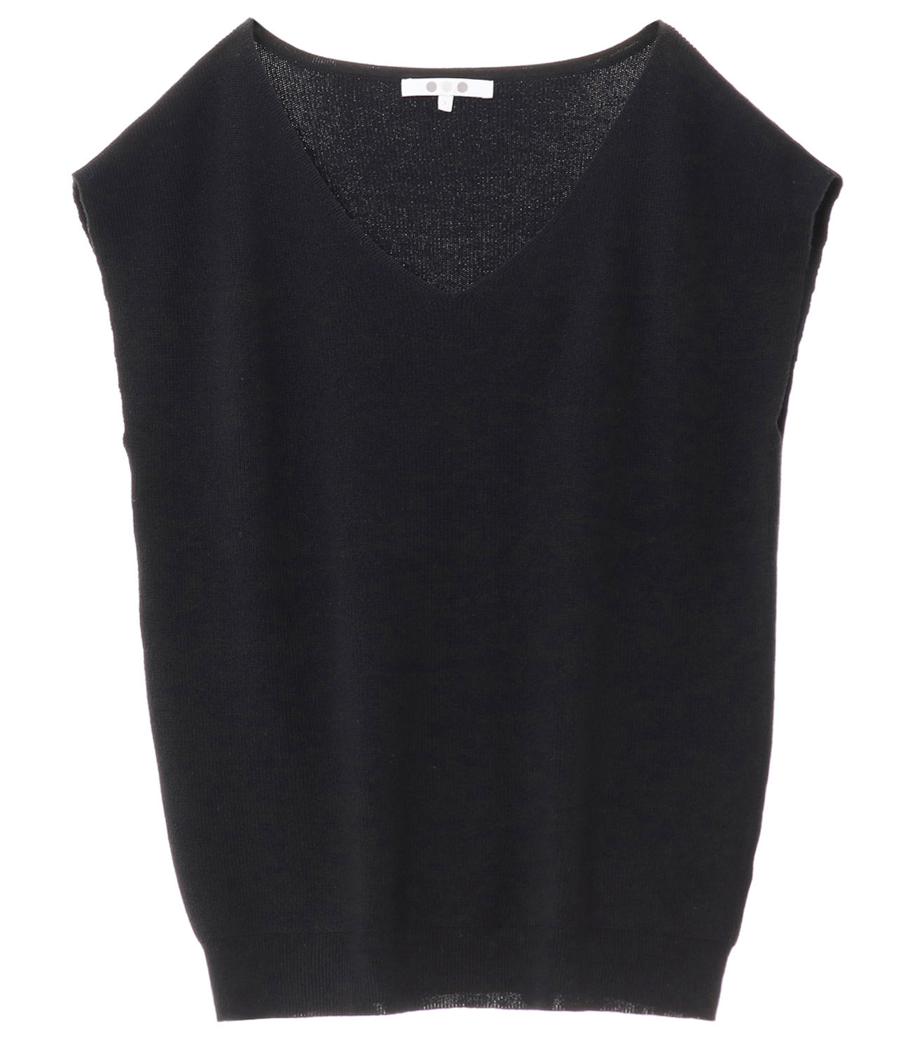 outlast sweater sleeveless vneck 詳細画像 black 1