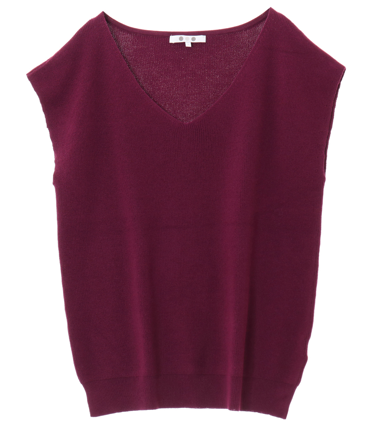 outlast sweater sleeveless vneck 詳細画像 purple 1