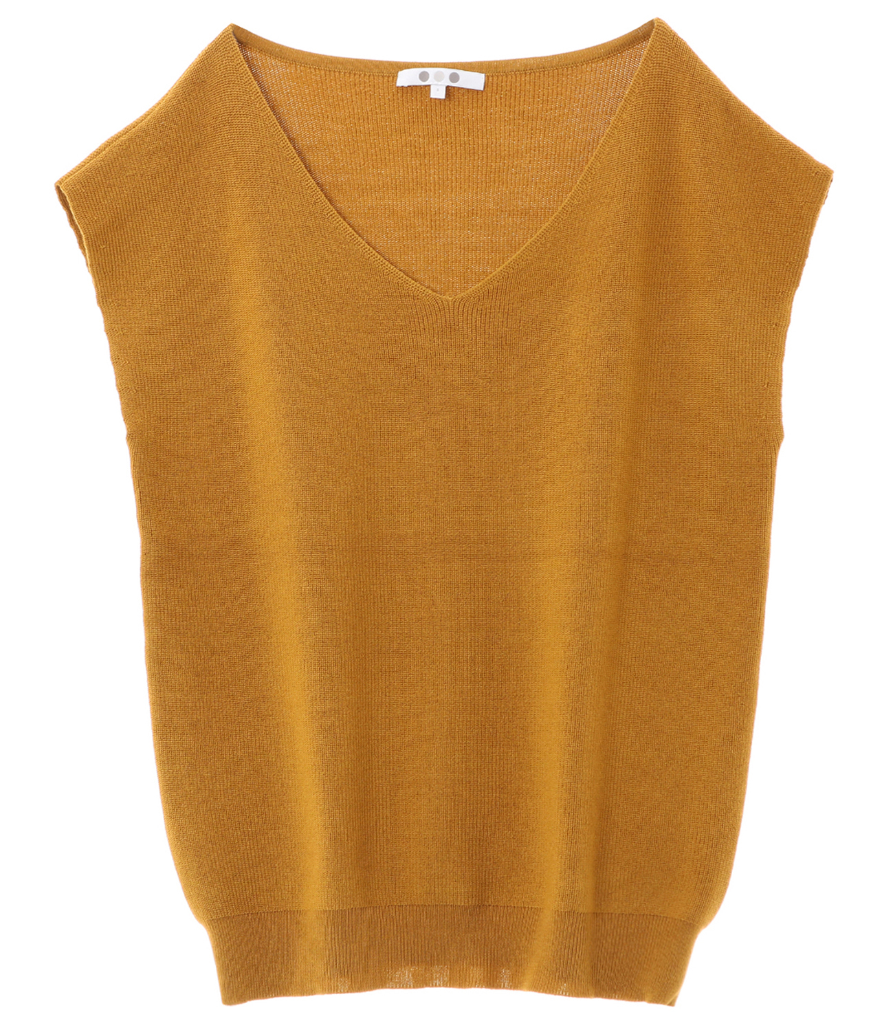 outlast sweater sleeveless vneck 詳細画像 mustard 1