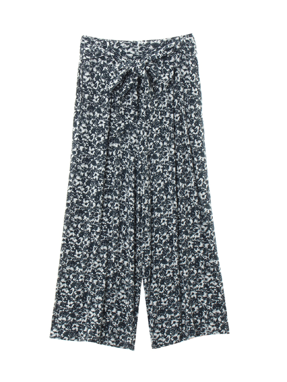 travel line tuck wide pant