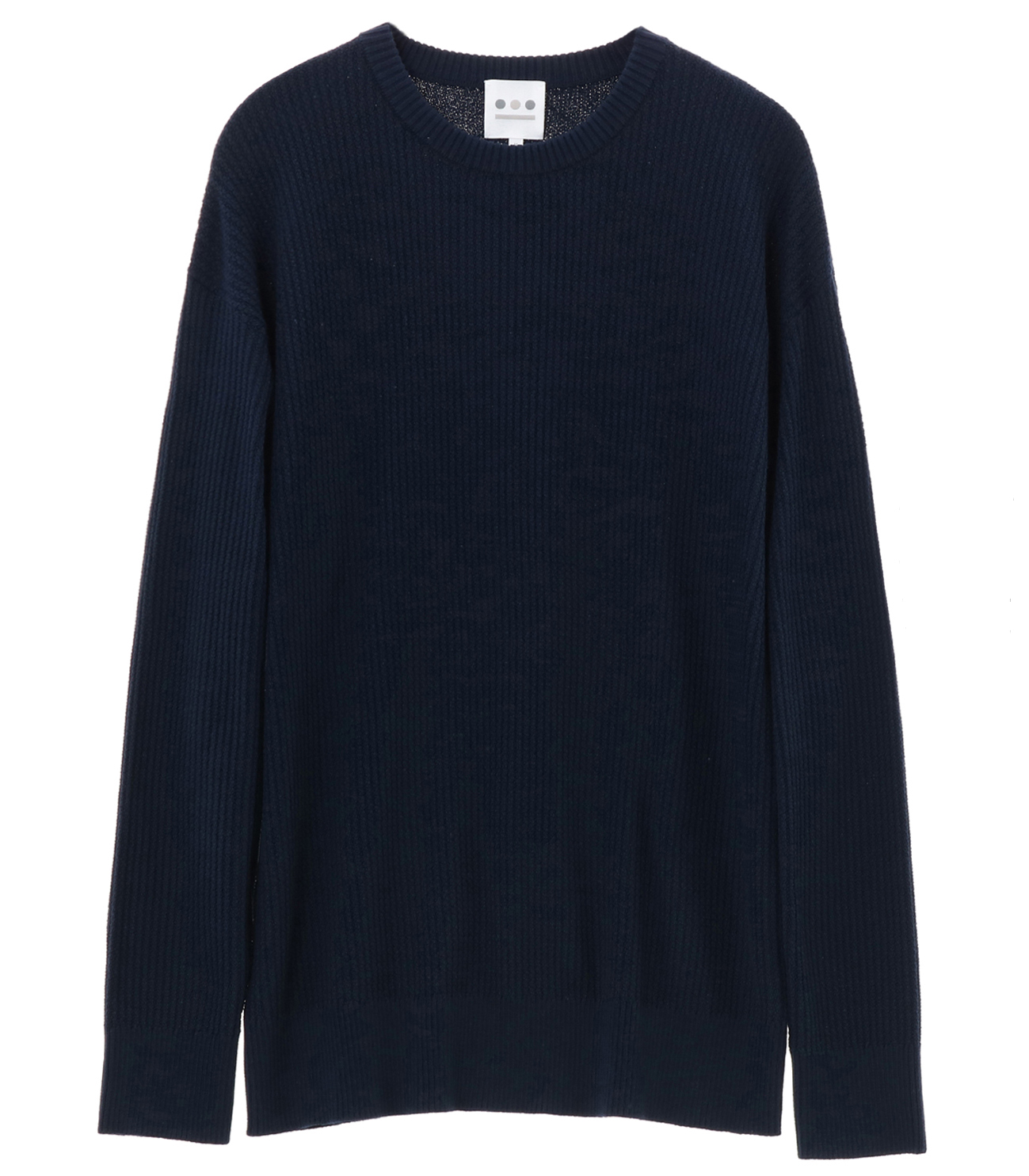 cool max waffle l/s crew 詳細画像 navy 1