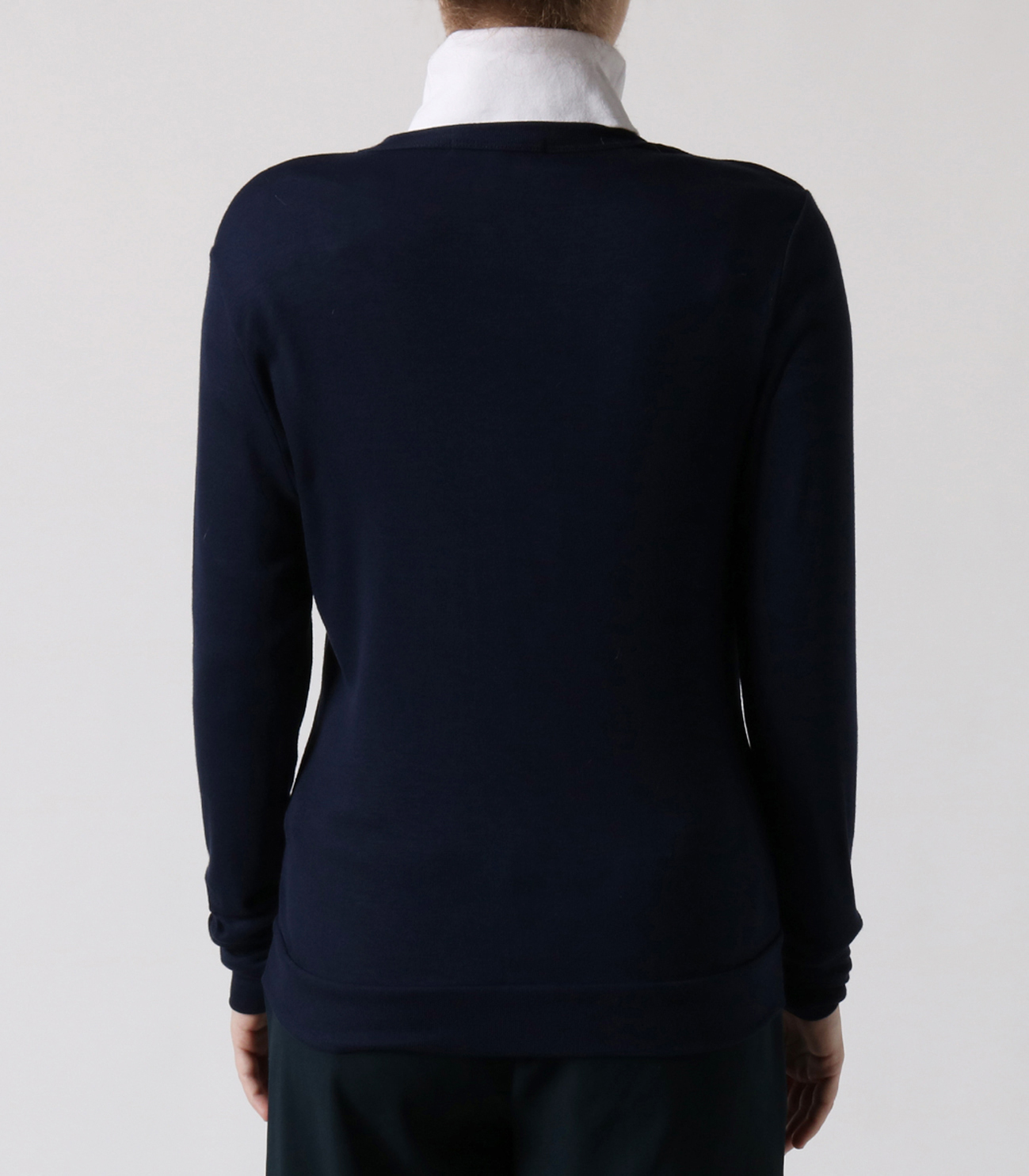 luxe rib button up cardigan 詳細画像 night iris 4