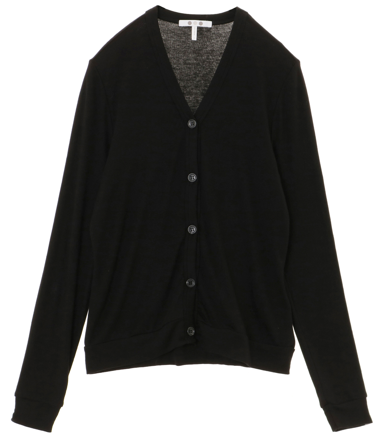 luxe rib button up cardigan 詳細画像 black 1
