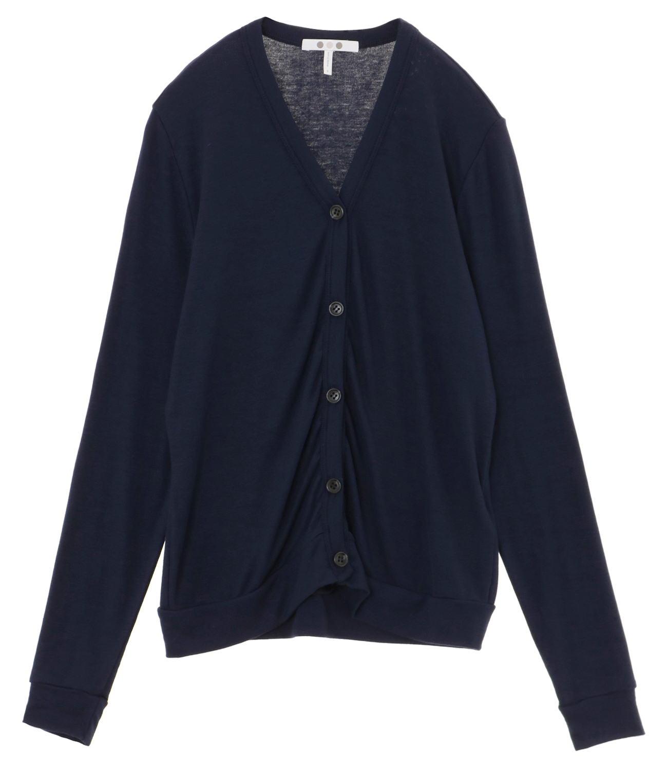 luxe rib button up cardigan 詳細画像 night iris 1