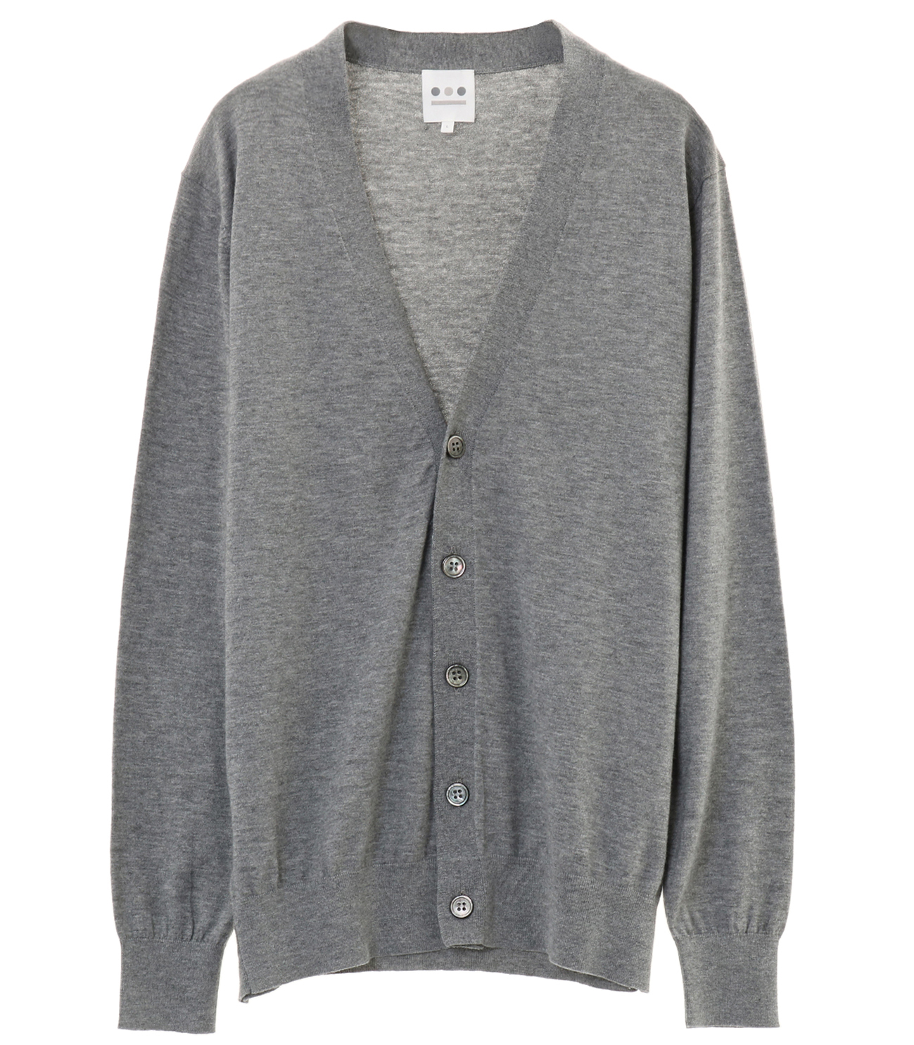 cotton wool l/s cardigan 詳細画像 grey 1