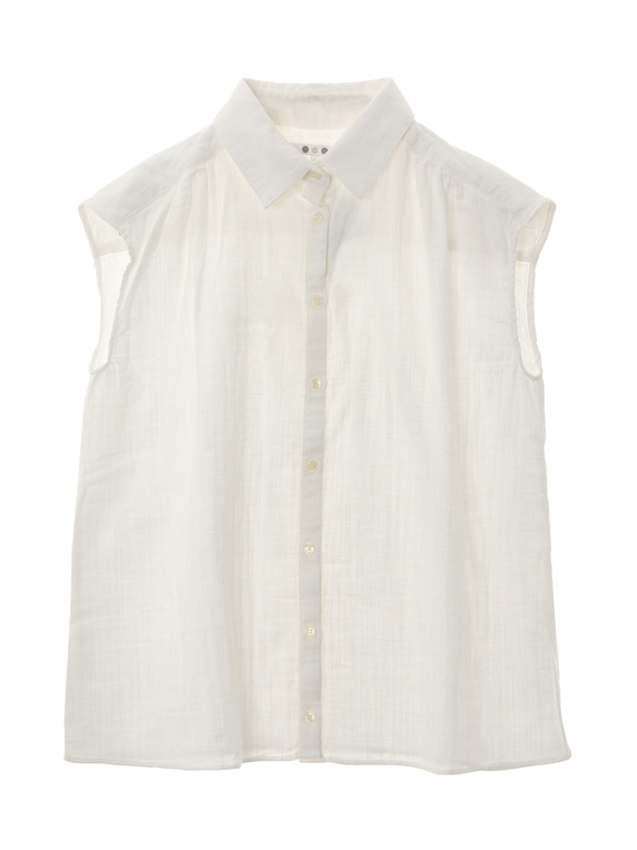 Slub double gauze s/s shirt