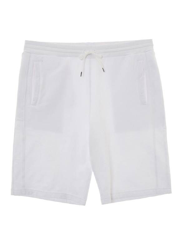 sanded face fleece shorts