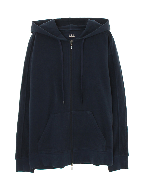 sanded face fleece hoody