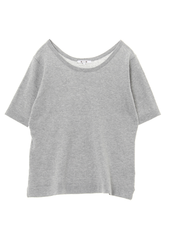 cotton melange s/s boxy top