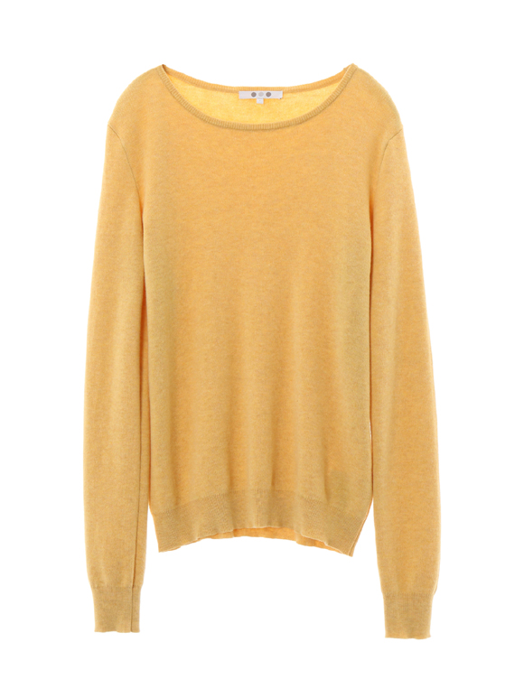 cotton melange l/s crew sweater