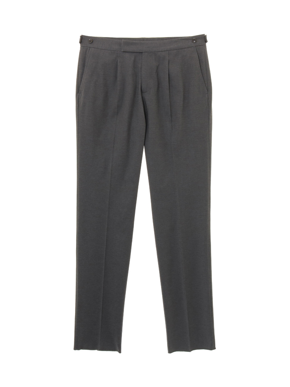 silky jersey pleated pants