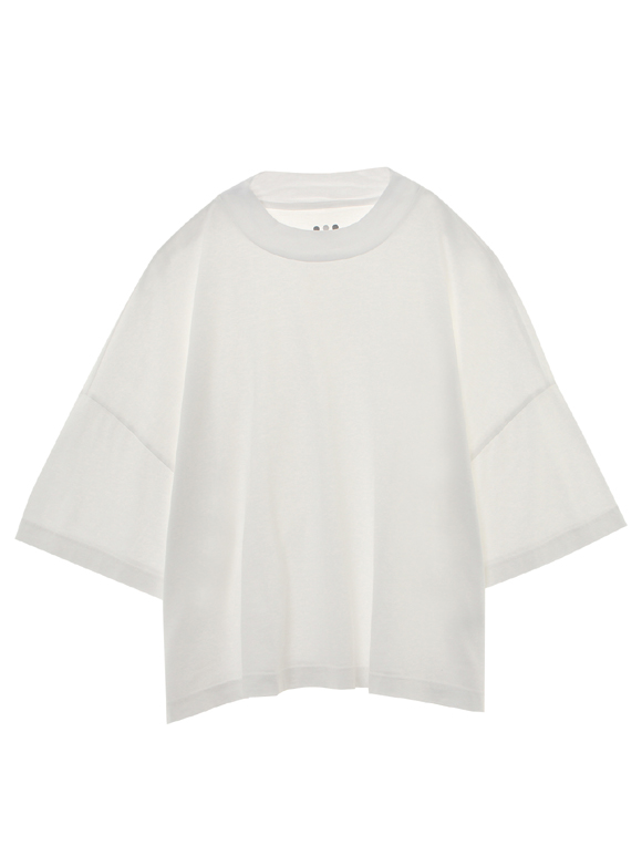 supima jersey mock neck crop top