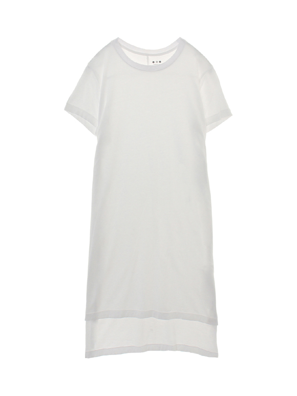 supima jersey tunic top w/slits