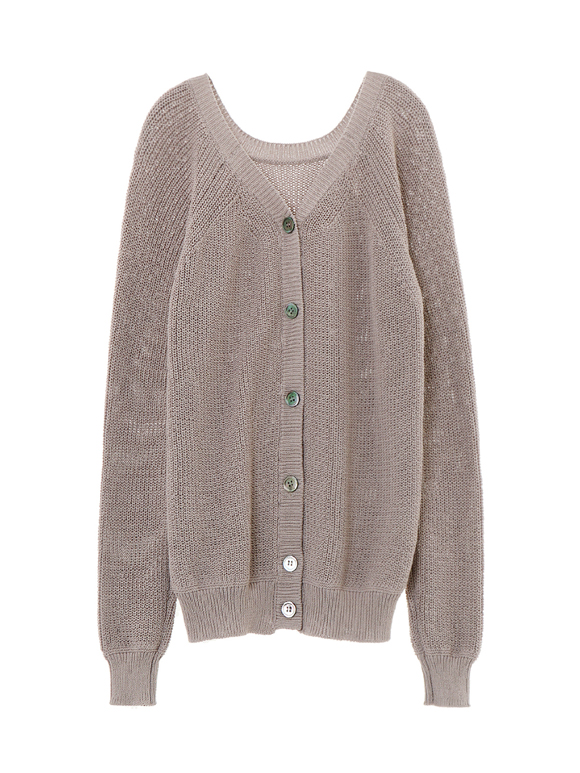 mixed cotton 2way pull over