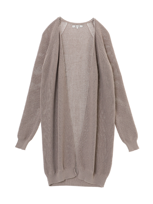 mixed cotton l/s open long cardy