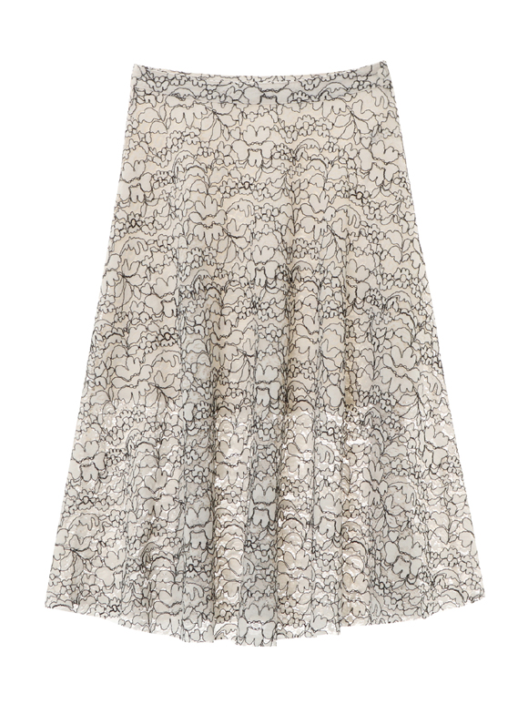 corded lace full skirt