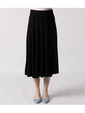 refined jersey flared skirt 詳細画像