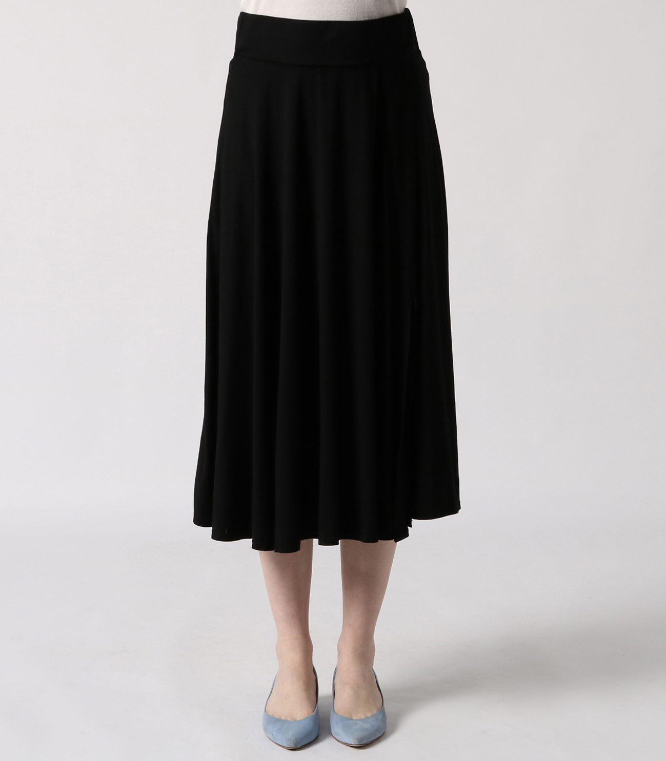 refined jersey flared skirt 詳細画像 black 2