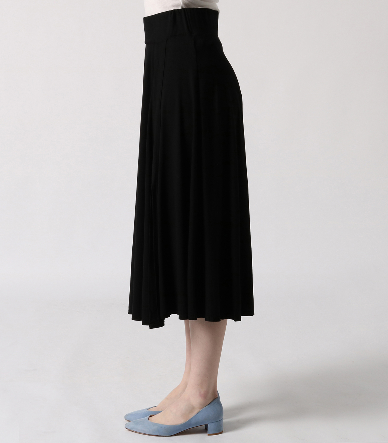 refined jersey flared skirt 詳細画像 black 3