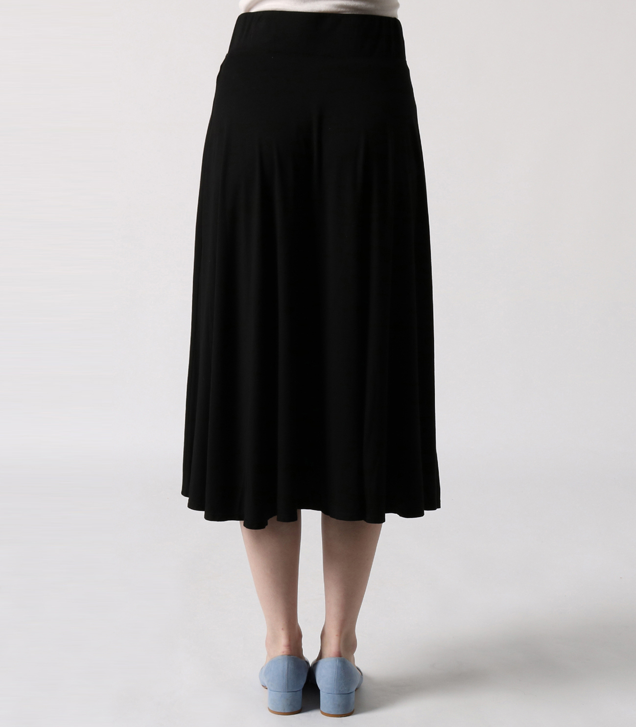 refined jersey flared skirt 詳細画像 black 4