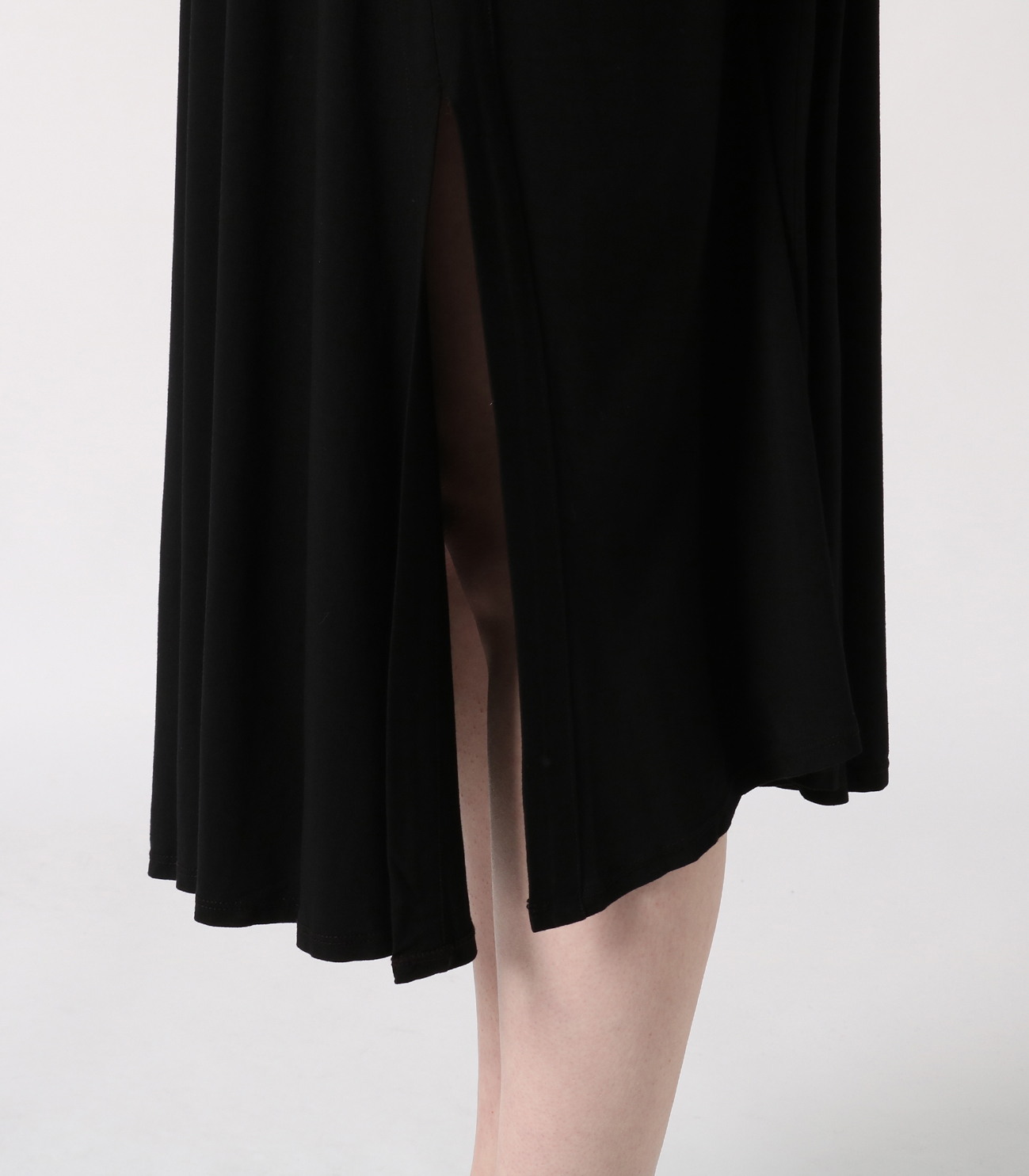 refined jersey flared skirt 詳細画像 black 7