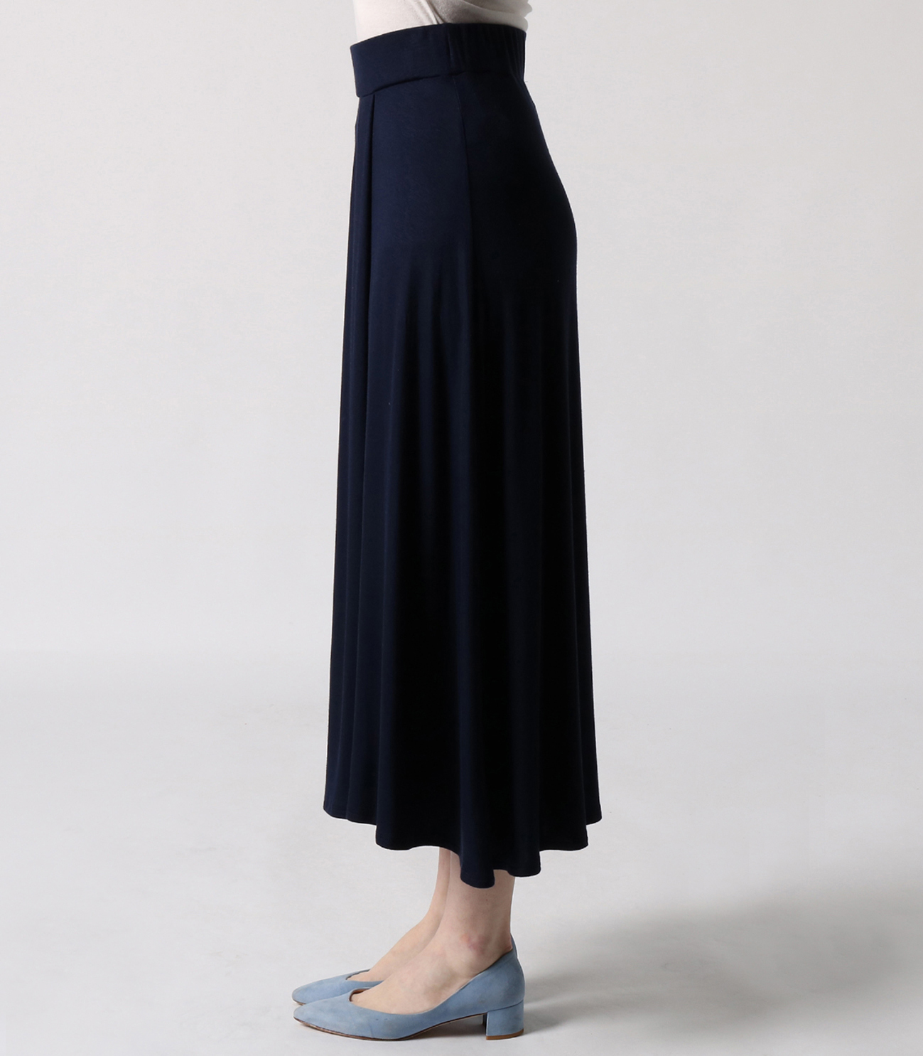 refined jersey long skirt 詳細画像 black 3