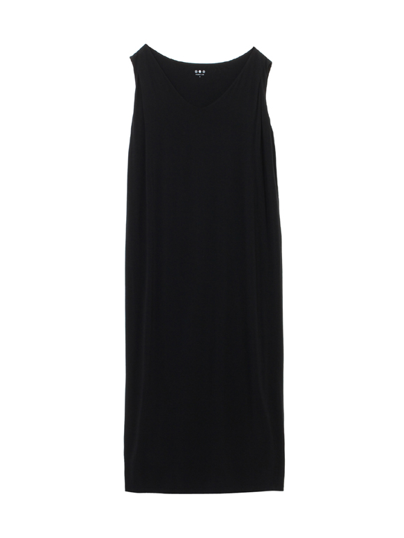 refined jersey sleeveless dress