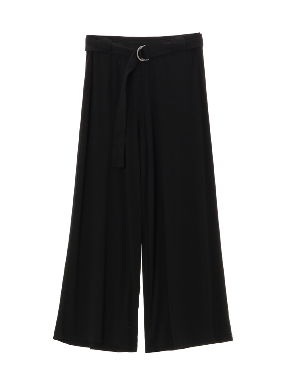 refined jersey wide leg pant