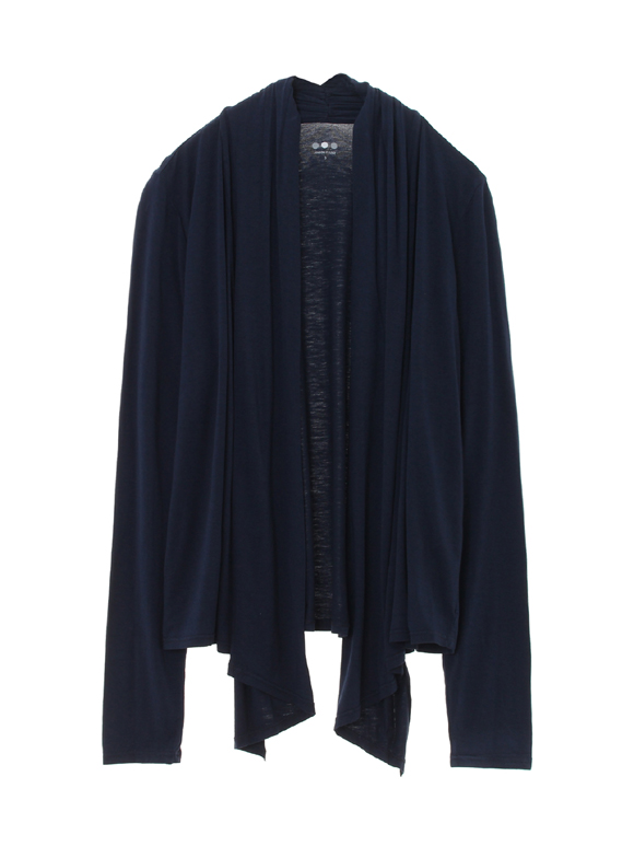 refined jersey open cardigan