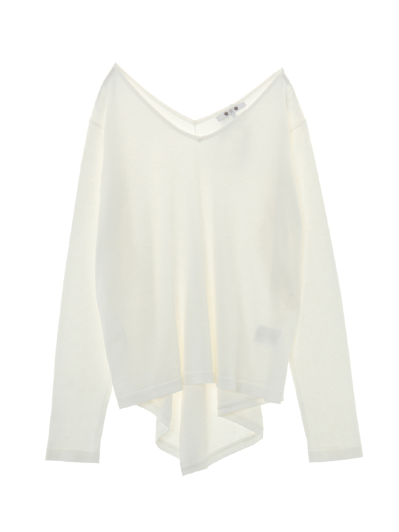 master seedcotton l/s draped top