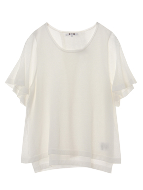 crepe sweater s/s doubled top 詳細画像