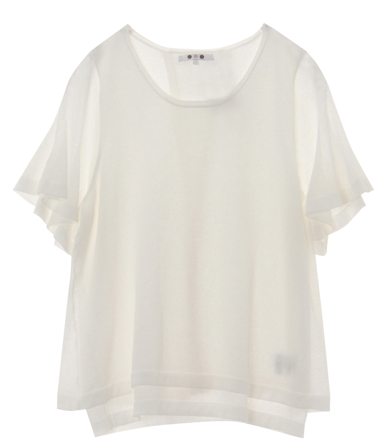 crepe sweater s/s doubled top 詳細画像 white 1