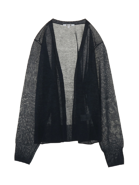 shiny sweater l/s cardigan