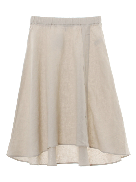classic linen pull on skirt