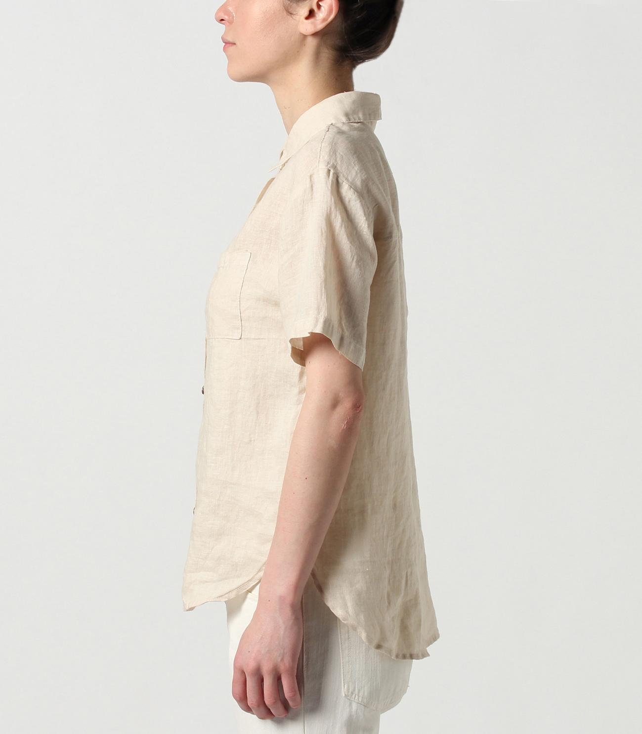 47a3f656d87e1c ... lt wt linen button up boxy shirt 詳細画像 night iris 3 ...